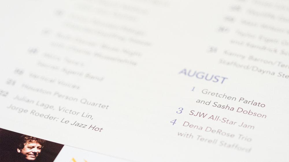Print – Festival Program – Pages 1-2 (Calendar Close-Up)