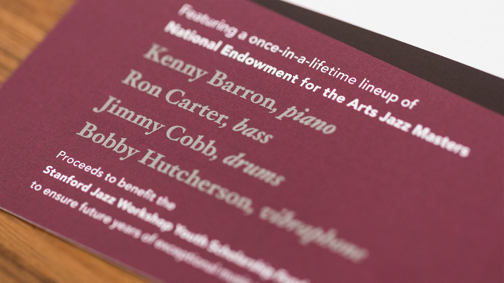 Print – Invitation Packet – Invite Details (Music Lineup Close-Up)