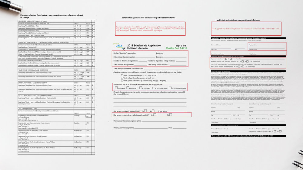 Programs Overview Spreadsheet & Pages from the Previous Year's Paper Application