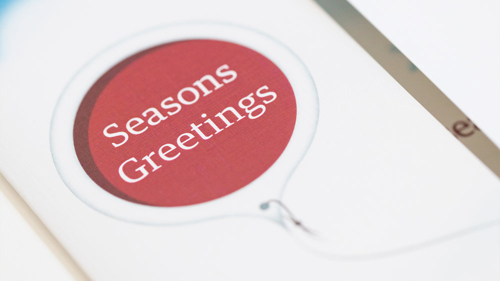 Print – Holiday Card – Front (Close-Up)