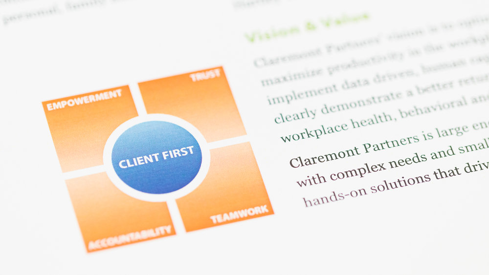 Print – Brochure – Pages 1 & 2 (Client First Close-Up)