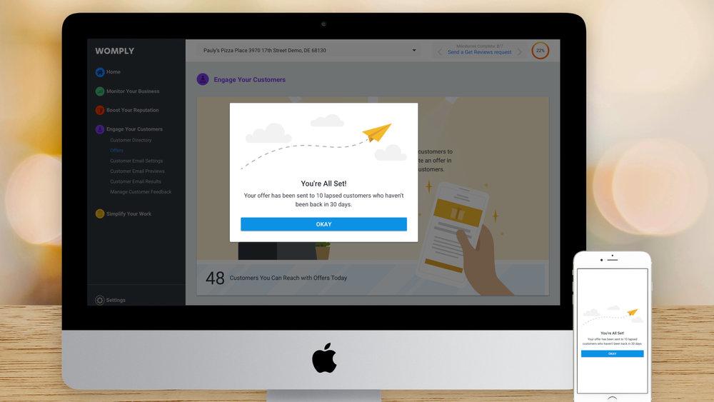 Responsive Web App – Create an Offer – Success
