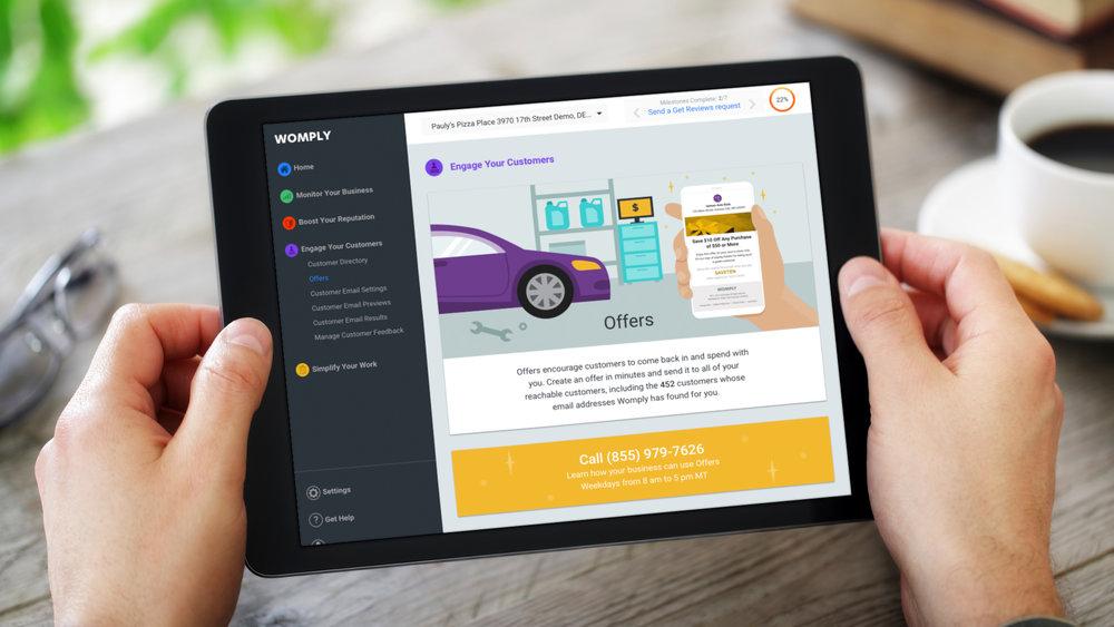 iPad Web App – Upsell Page – Auto Body Shop