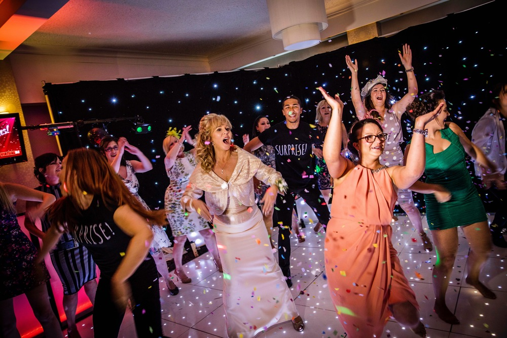 A recent wedding where the bride's friends joined in at the end!