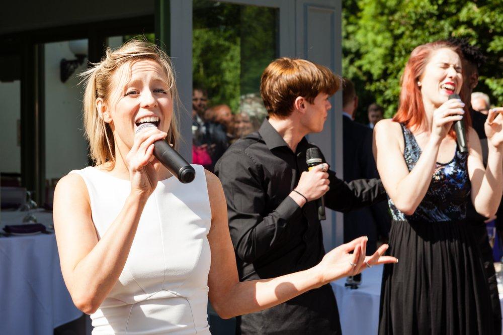 Singing Guests at a Wedding
