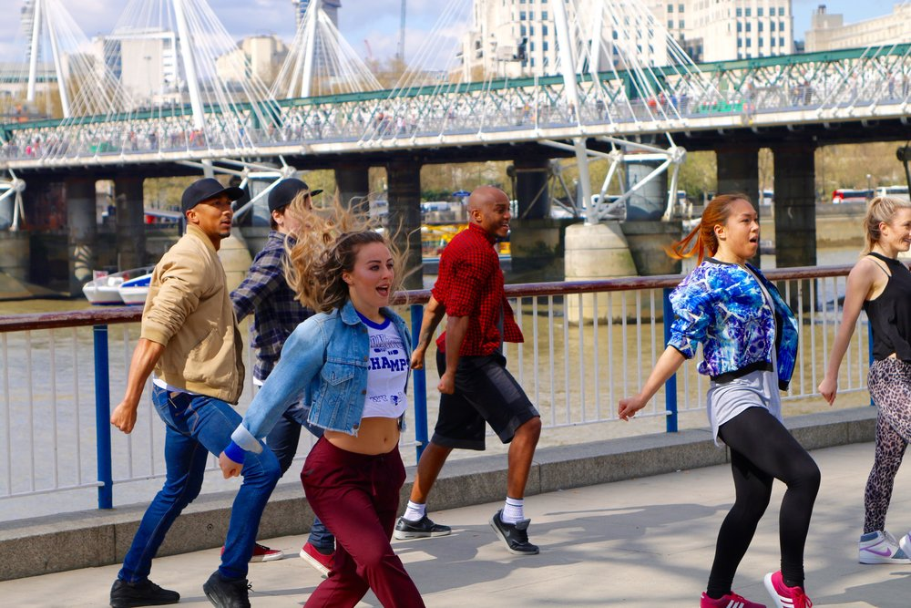 A recent flash mob that drew huge crowds on London's Southbank