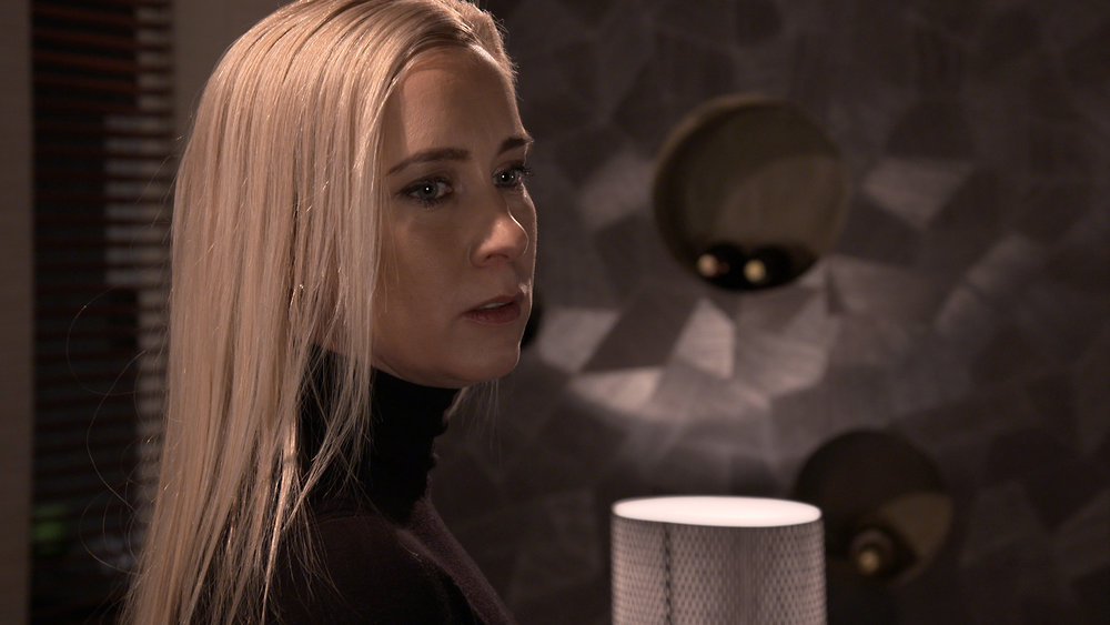 Nora Rinne Camilla Mustavaaran roolissa tv-sarjassa Salatut elämät . Kuva FremantleMedia / MTV3 2018.