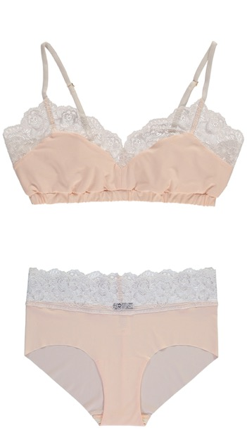 Standard Pullover Bra and Standard Brief in Peach