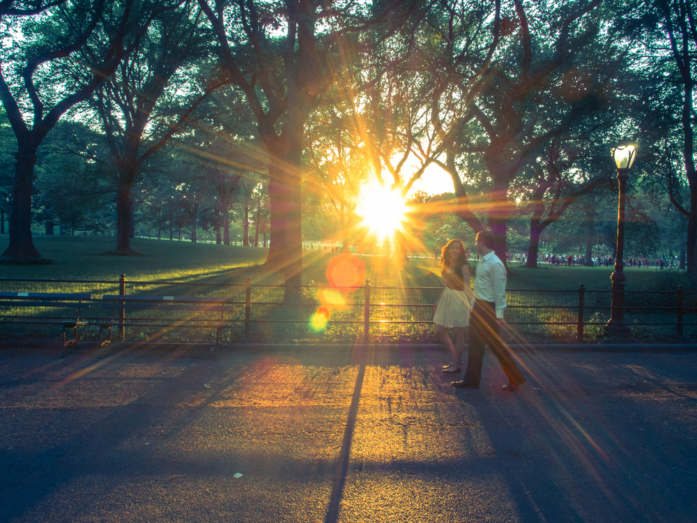CENTRAL PARK PROMENADE AT SUNSET