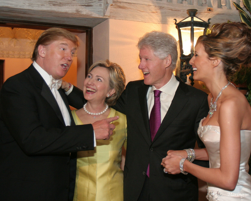 Donald Trump Wedding Hillary Clinton