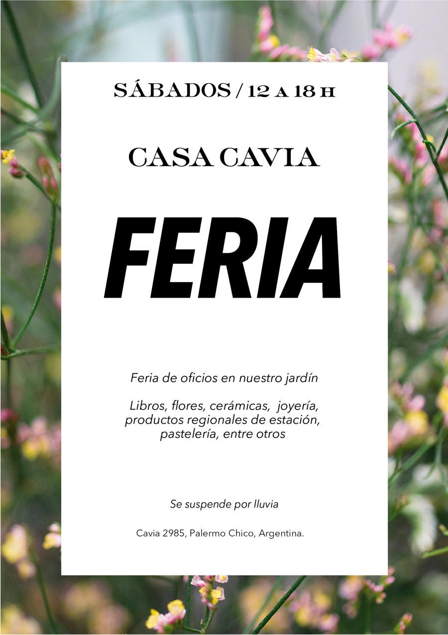 Feria de oficios: libros, flores, cerámica, joyería y pastelería.