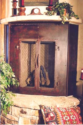 Custom Fireplace Door