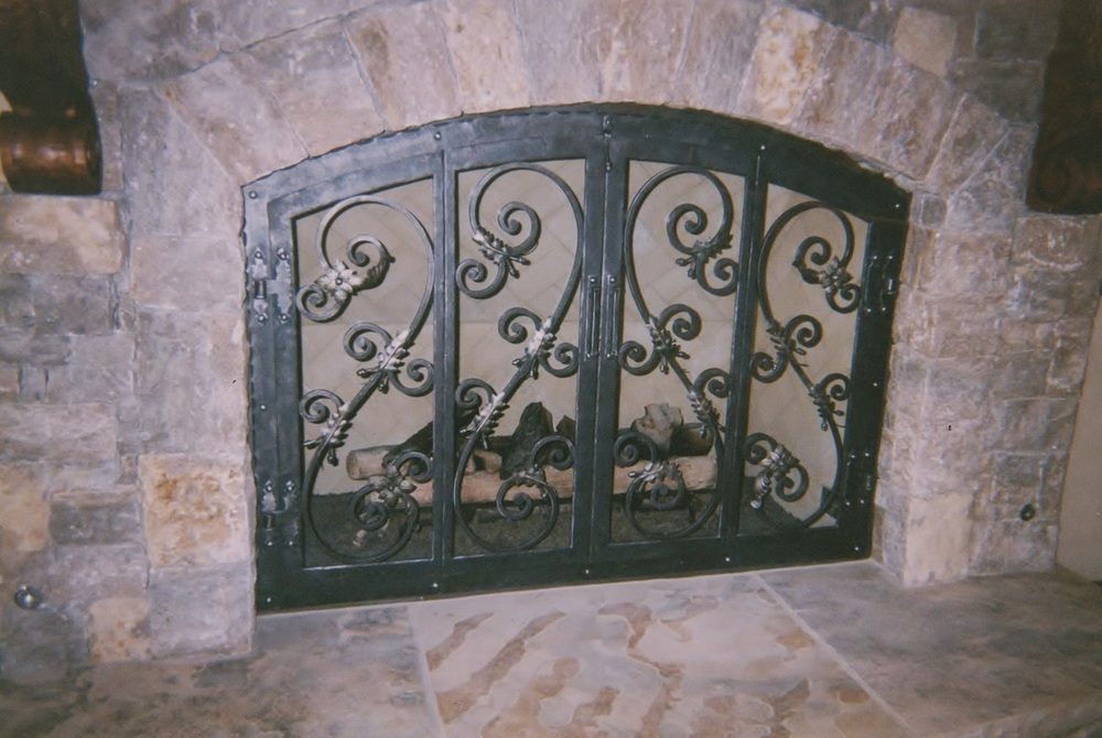 Fireplace doors, circa 2001