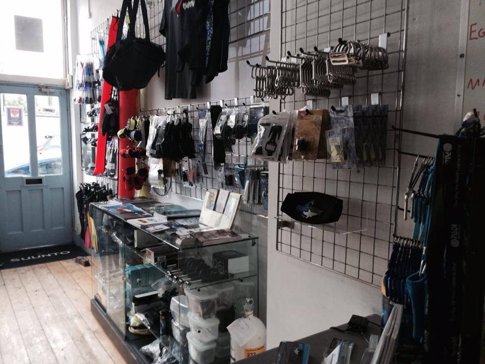The DLL dive shop in Clapham Junction.