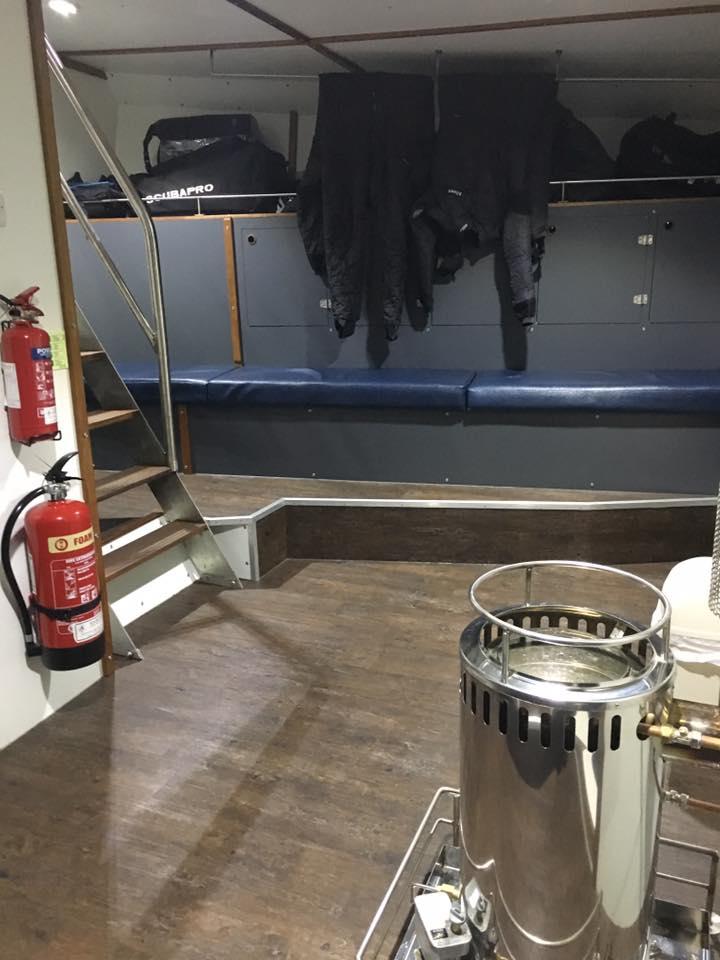 MV Huskyan locker room