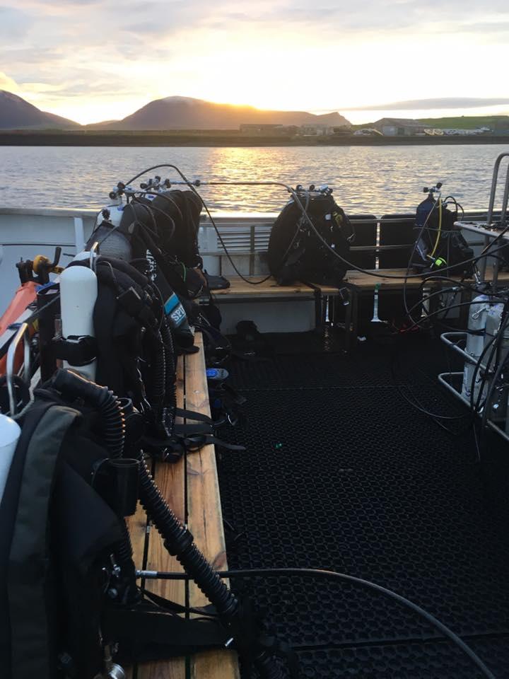 MV Huskyan dive deck