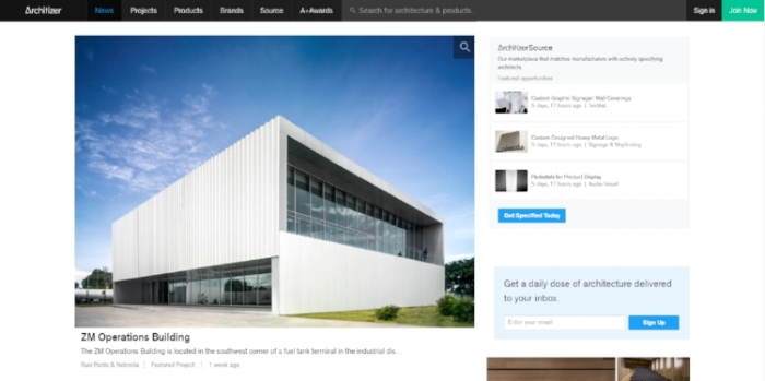 zm operations building featured in architizer