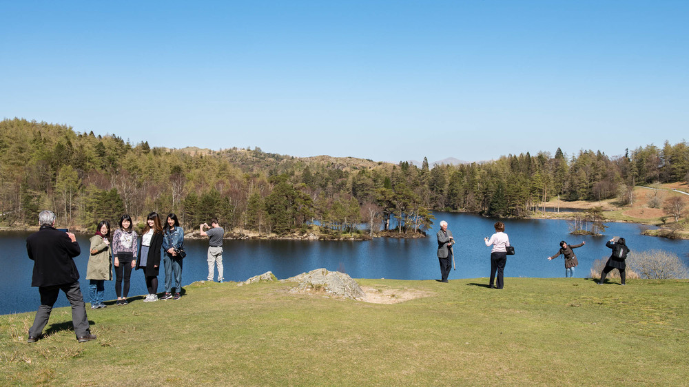 Tourists at Tarn Hows