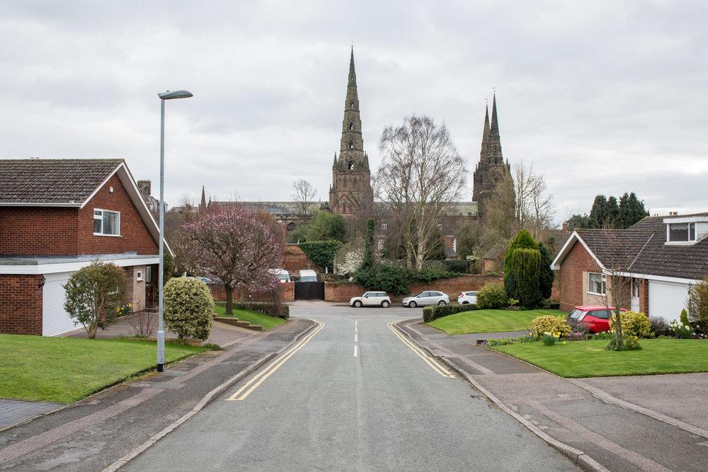 Lichfield Cathedral, Lichfield, Staffordshire - March 2017