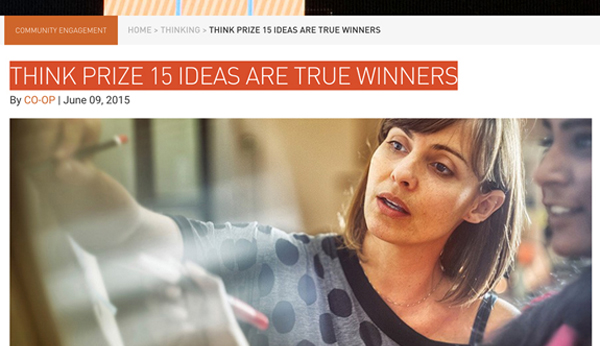 CO-OP – THINK Prize 15 Ideas Are True Winners