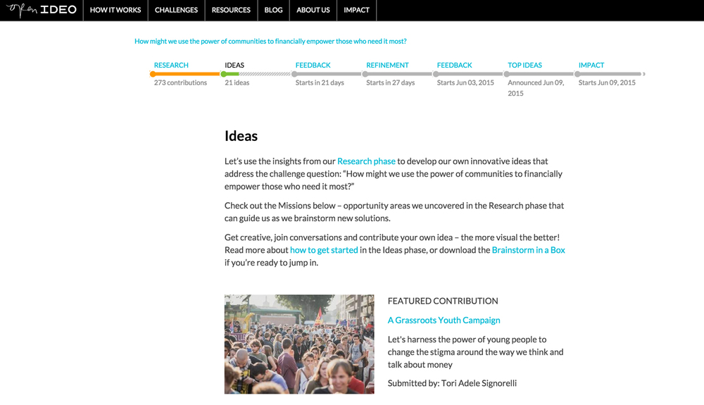 OpenIDEO – Featured contributions