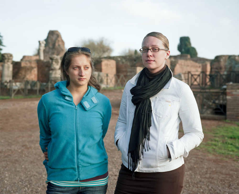 Alyssa and Carin, Roman Ruins