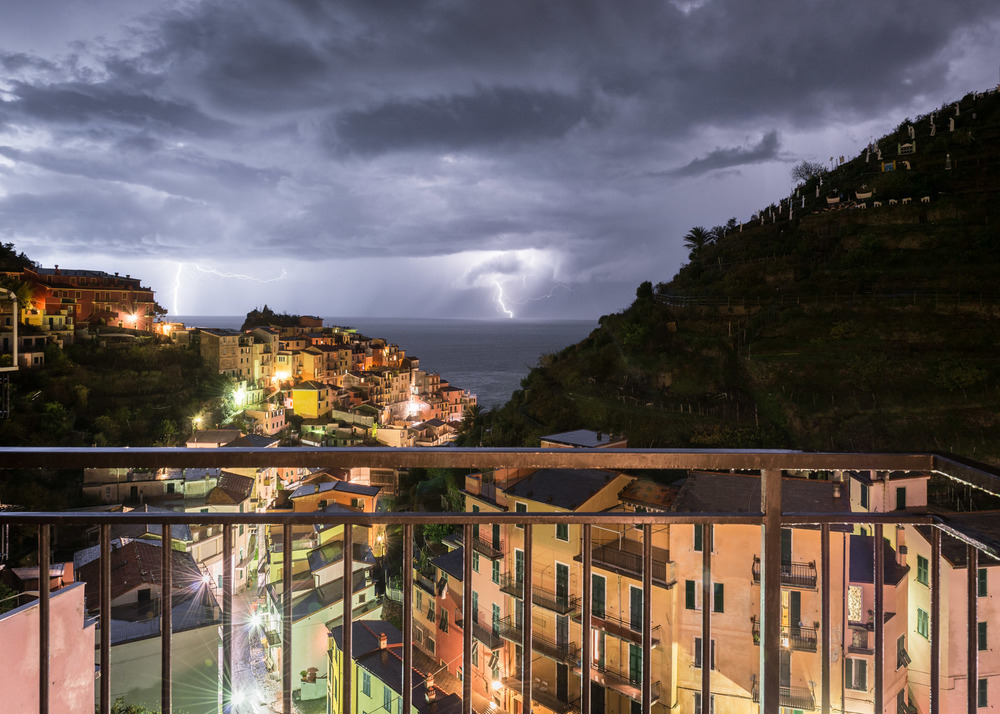 Lightning From Our Balcony, Manarola, Italy, 2014
