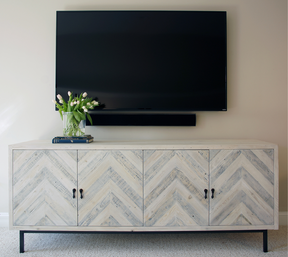 Angela Raciti Interior Design Chevron Console
