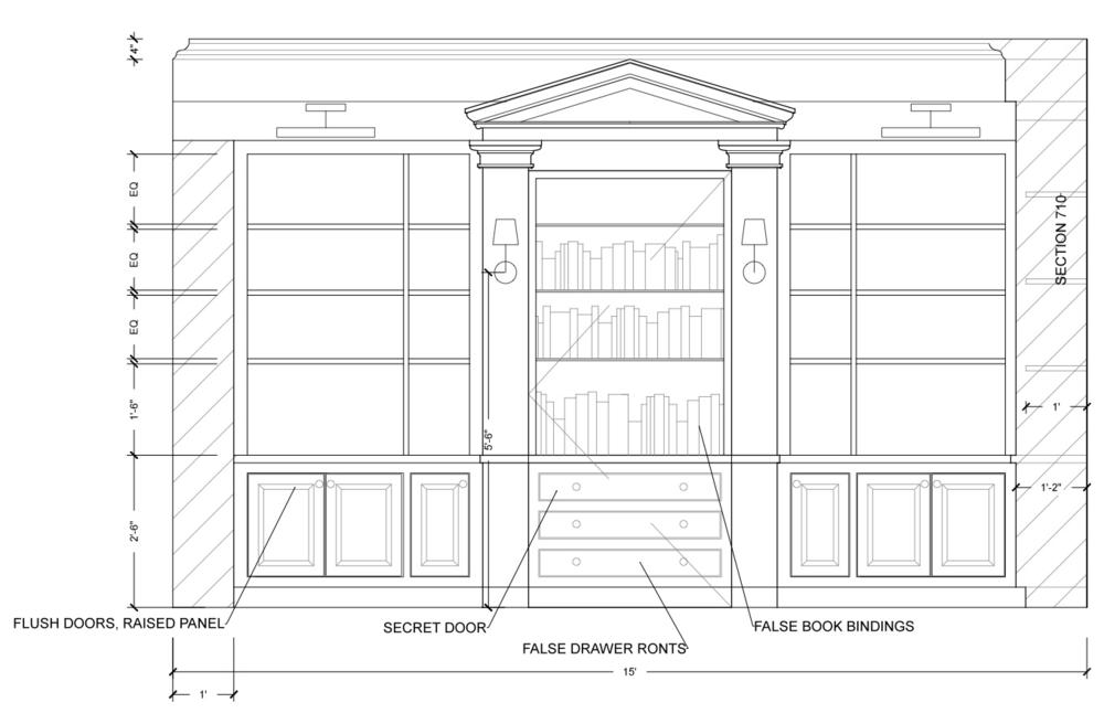 Angela Raciti Interior Design Technical Drawings