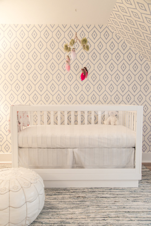 modern nursery crib