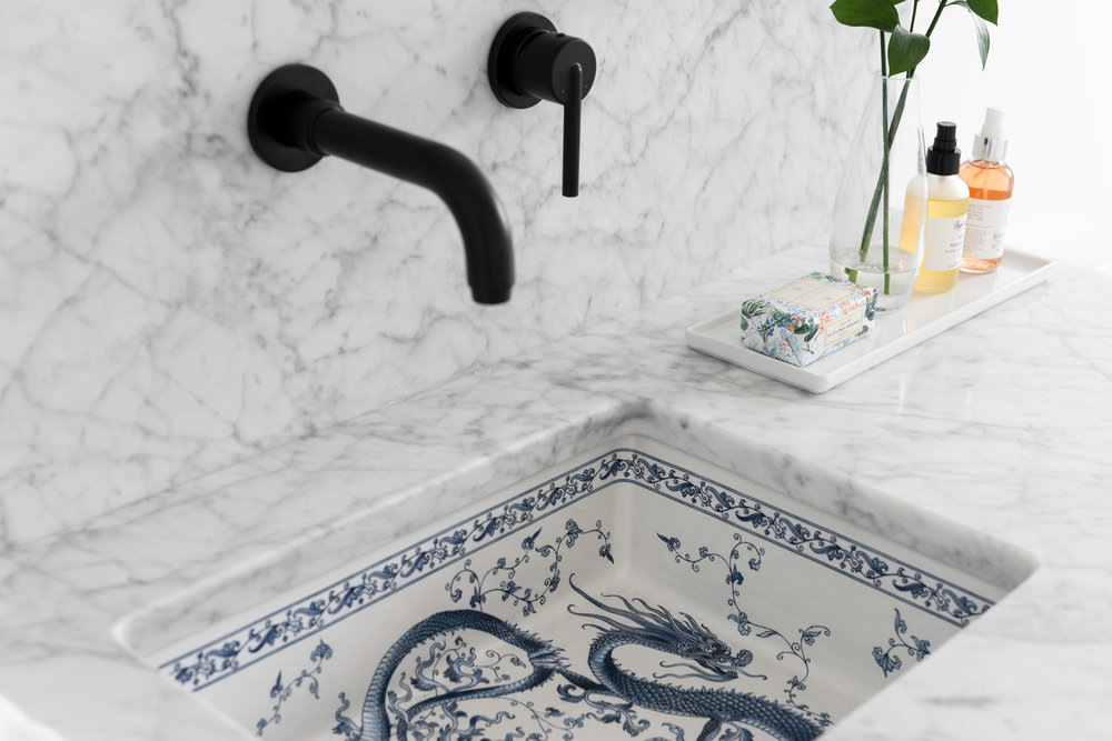 chinoiserie sink
