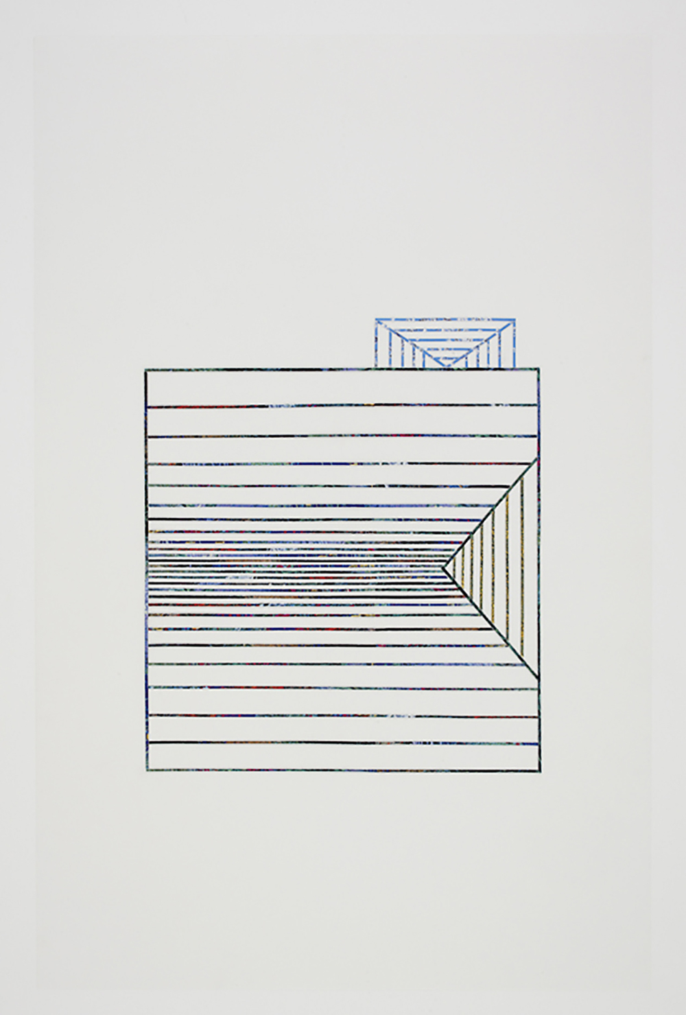 Roof #10, 2010, collage on drafting film paper, 34 x 22 inches/ 86 x 56 cm
