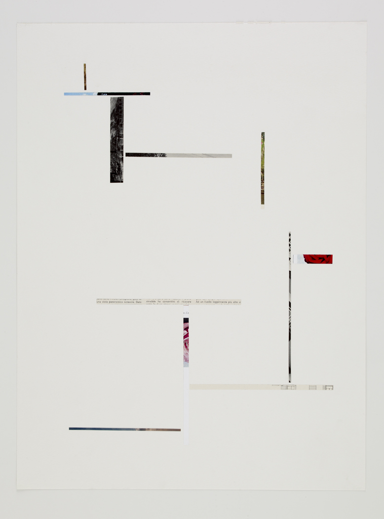 Untitled, 2009, collage on paper, 18 x 24 inches/ 45,5 x 60 cm