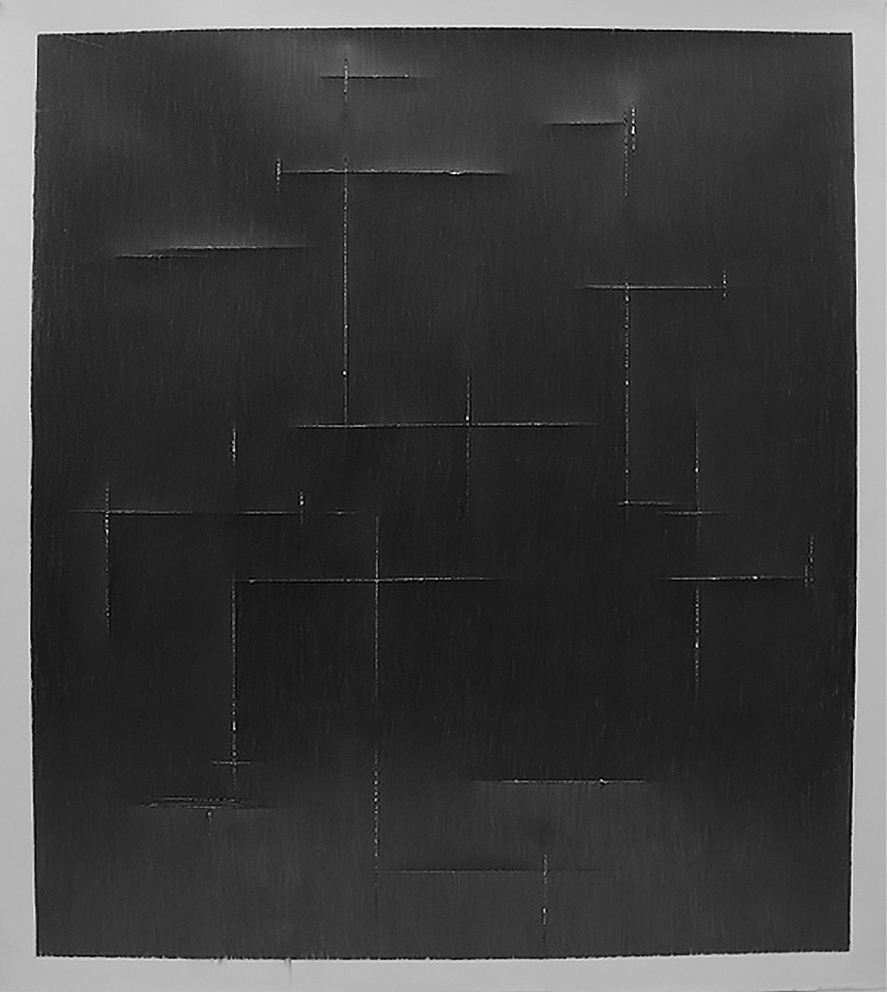 Untitled, 2012, graphite on paper, 45x 41inches/ 114 x 104 cm