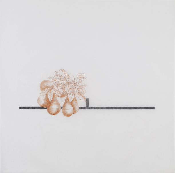 Robert Grosvenor , 2010, pencil and sanguine on tracing paper, 41 x 41 inches/ 104 x 104 cm