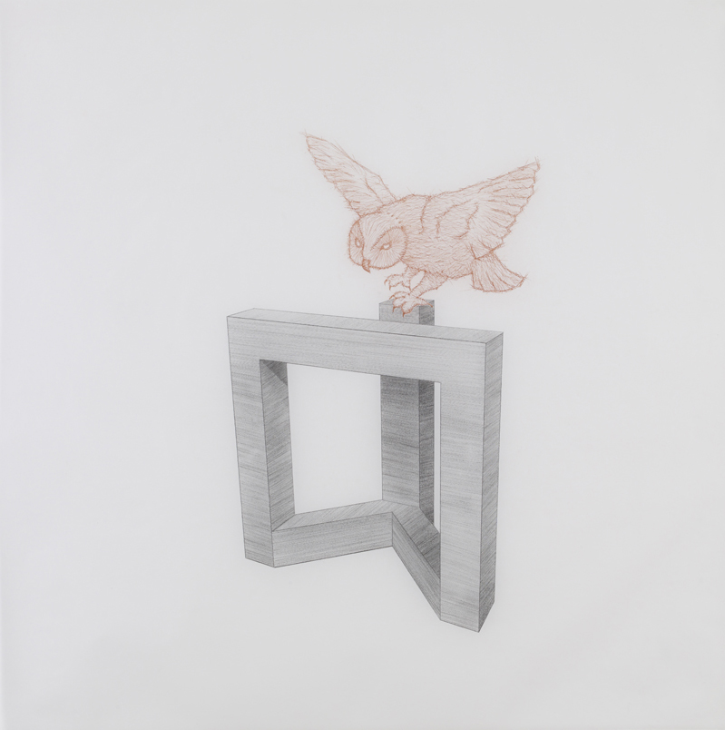 Douglas Huebler, 2010, pencil and sanguine on tracing paper, 41 x 41 inches/ 104 x 104 cm