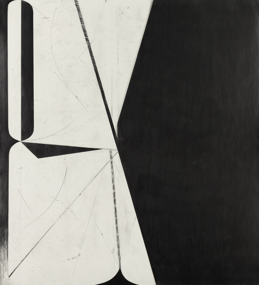 Sticks and Stones # 21,  2014, graphite on cut and collaged paper, 51 x 47 inches/ 130 x 120 cm