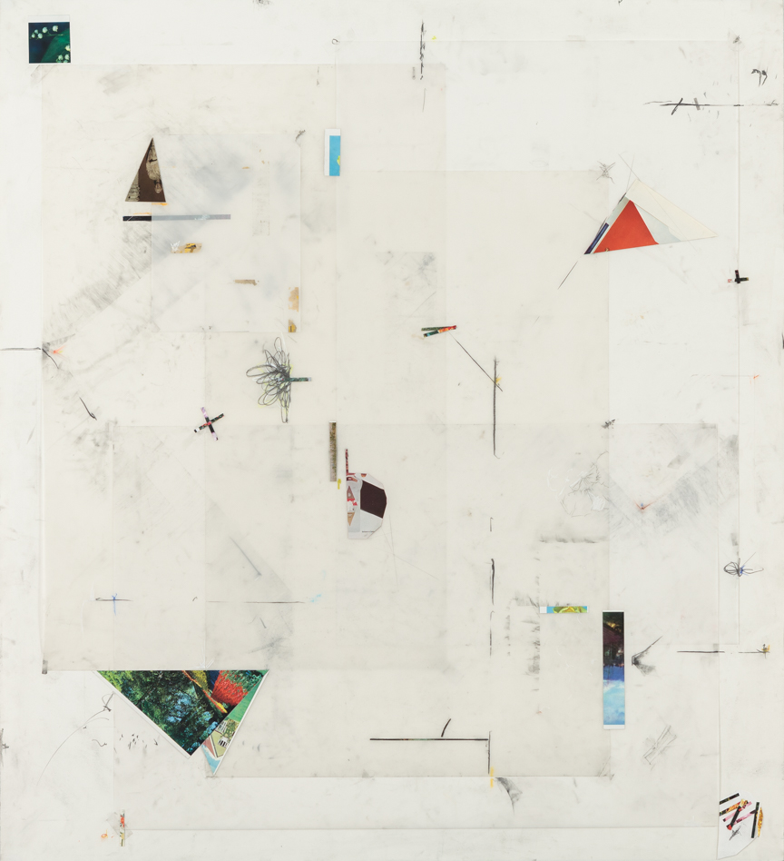 Untitled, 2013, pencil, collage, colored pencil and pastels on paper and mylar, 51 x 47 inches/ 130 x 120 cm