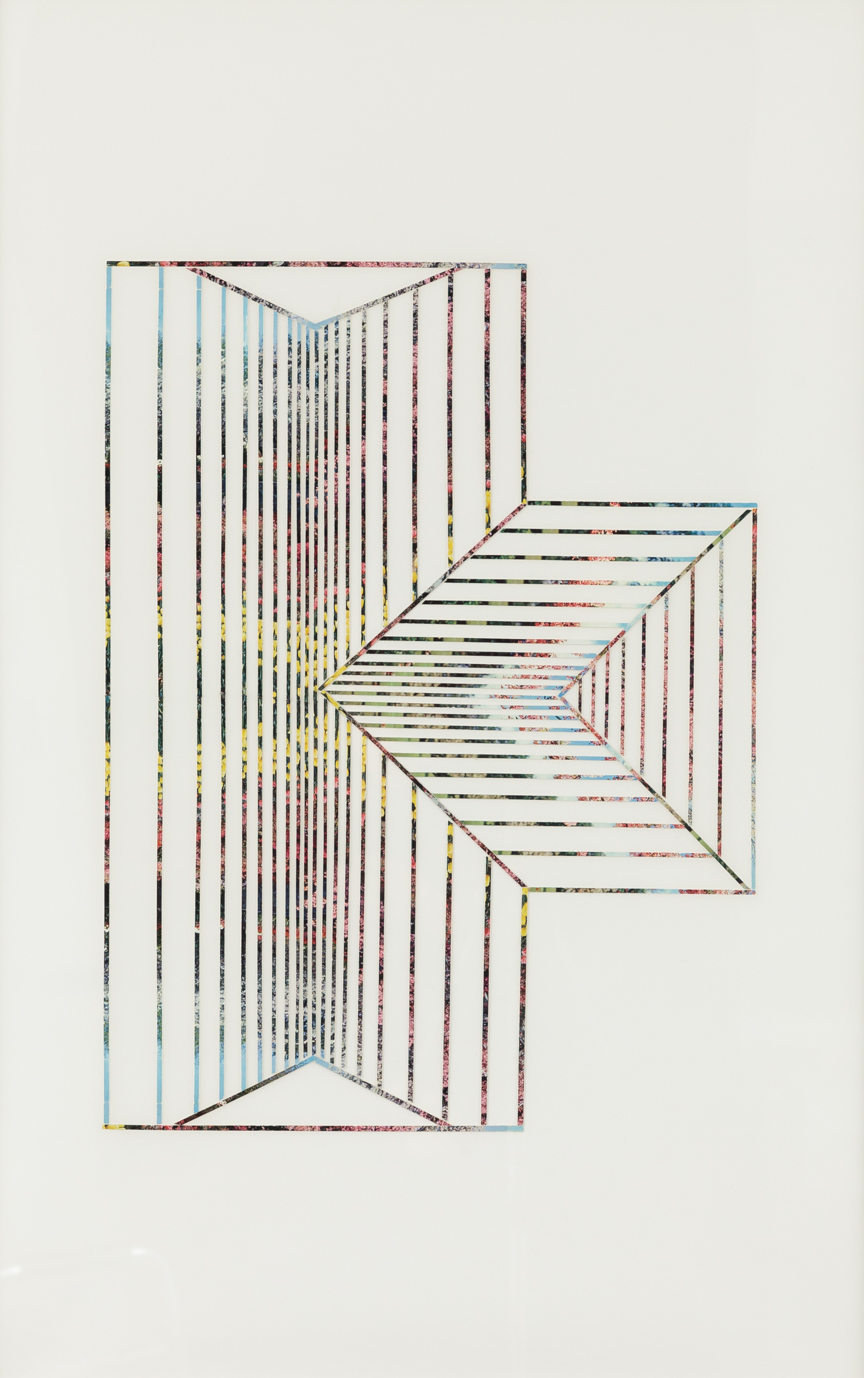Roof#2, 2010, collage on drafting film paper, 34 x 22 inches/ 86 x 56 cm