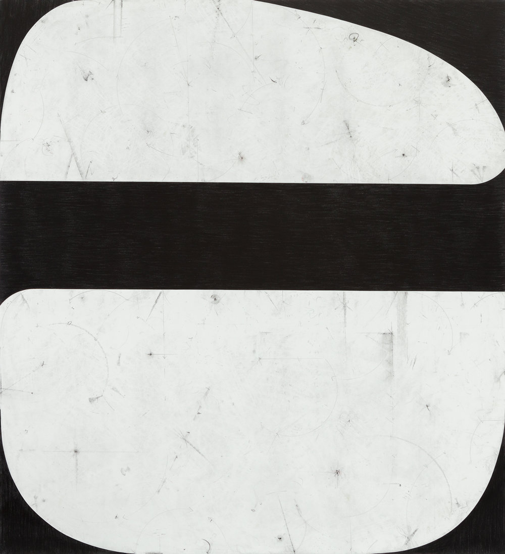 Sticks and Stones # 61, 2017, graphite on cut and collaged paper, 51 x 47 inches, 130 x 120 cm