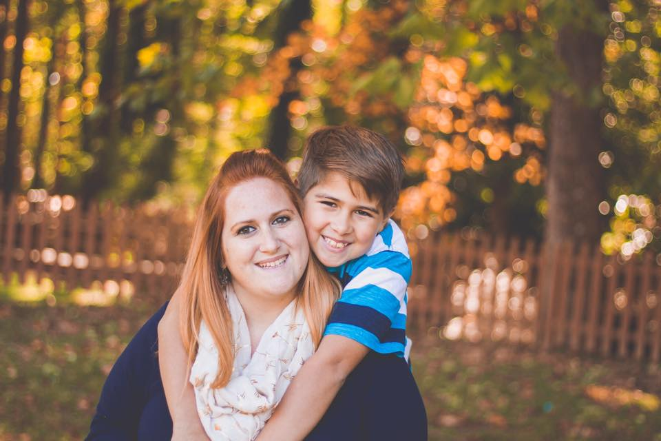 Meghan and her son, Klayton