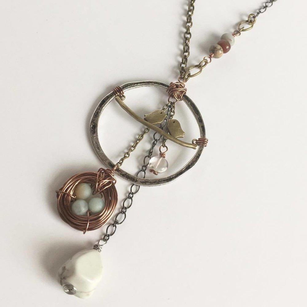 Handmade Mixed Metal Necklace Design