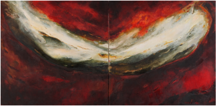 Ineke Van Der Wal, 'Red Diptych', 1991,  from New Hall Art Collection, Murray Edwards College, University of Cambridge