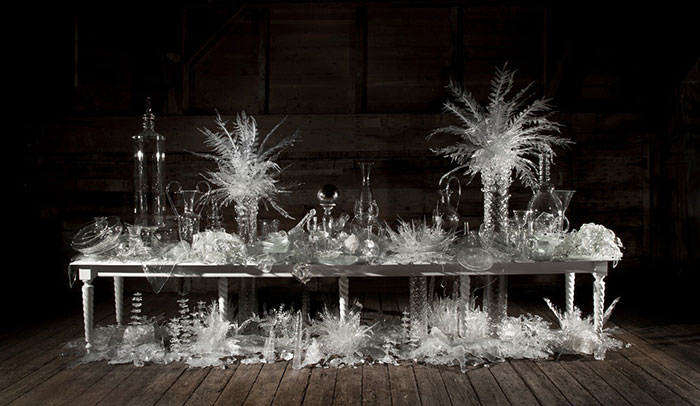 Beth Lipman, Laid (Time-)Table with Cycads