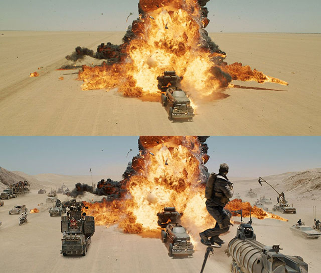 Mad Max: Fury Road - A masterful melding of practical and computer driven VFX. Also, it's cool as hell.