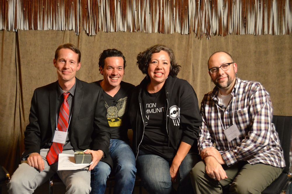 After a historic debate: Warren Cariou, Joseph Boyden, Terri Monture, and Daniel Heath Justice