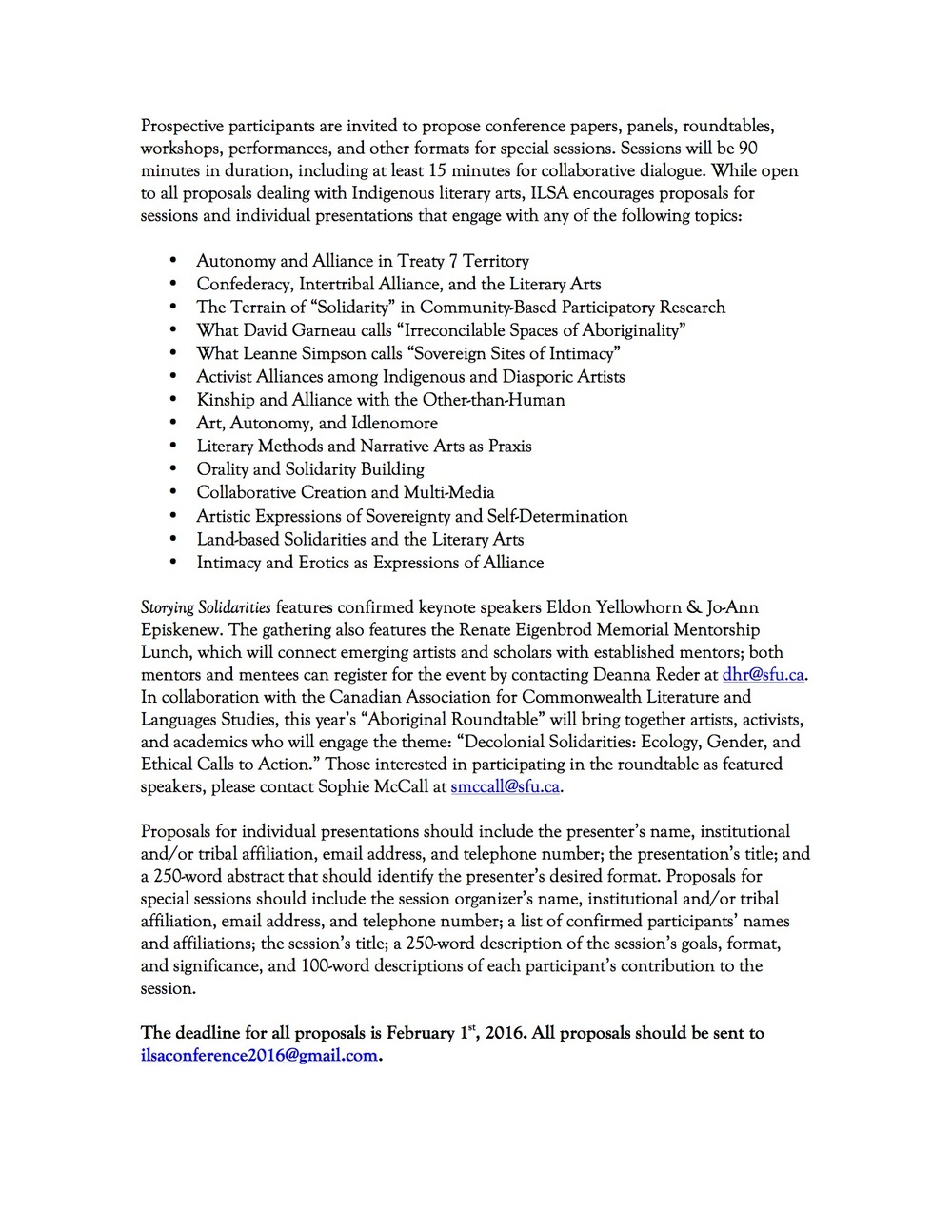 cfp indigenous literary studies association call for papers for ilsa at congress 2016
