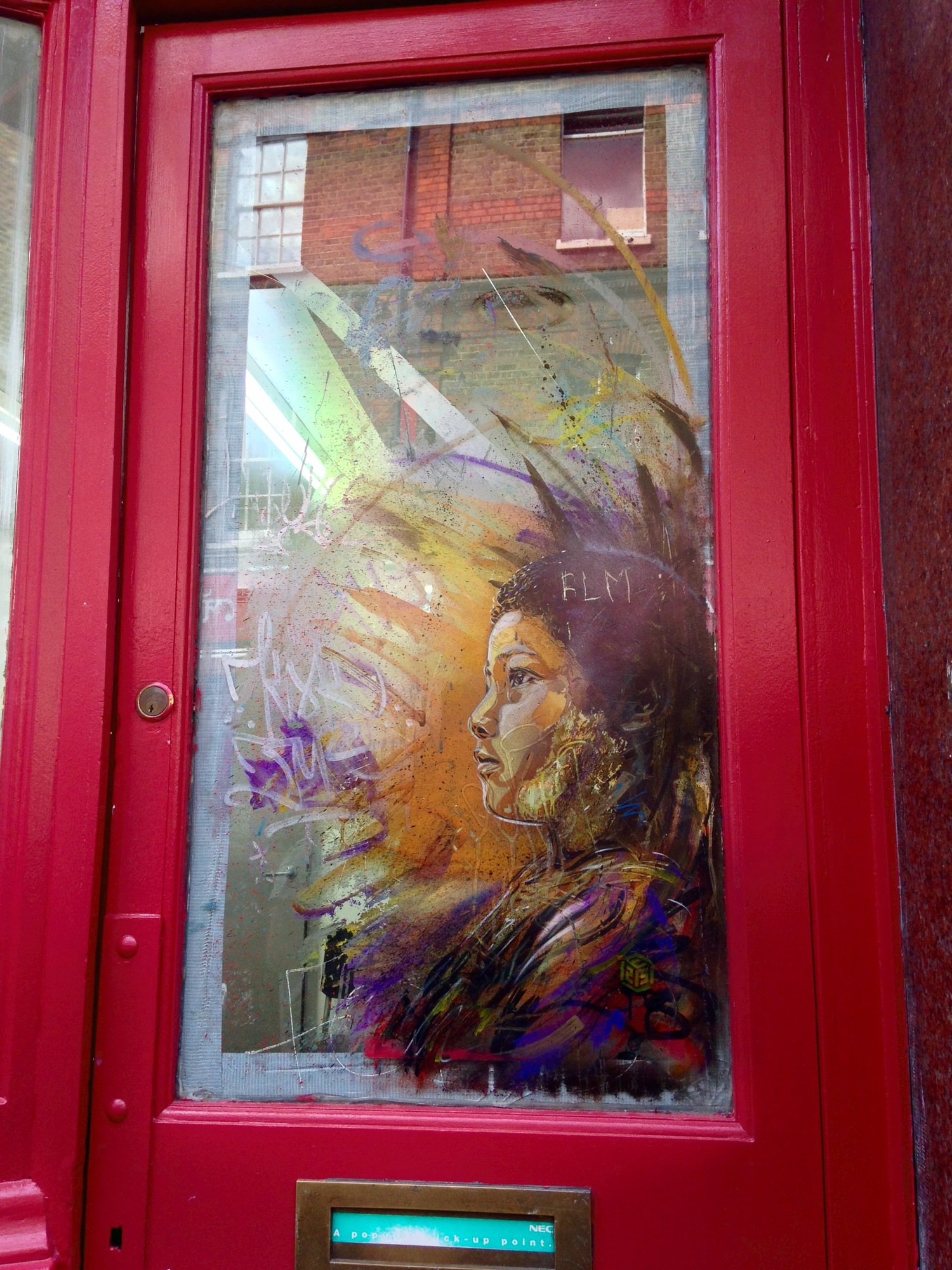 Photo 5: piece by Christian Guemy, also known as C215, on Brick Lane