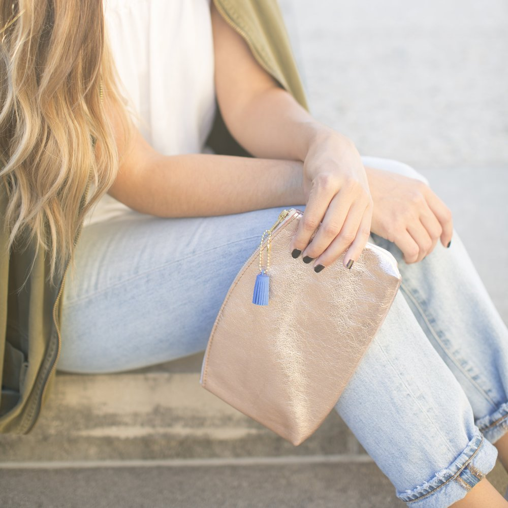 Rose Gold Clutch $36