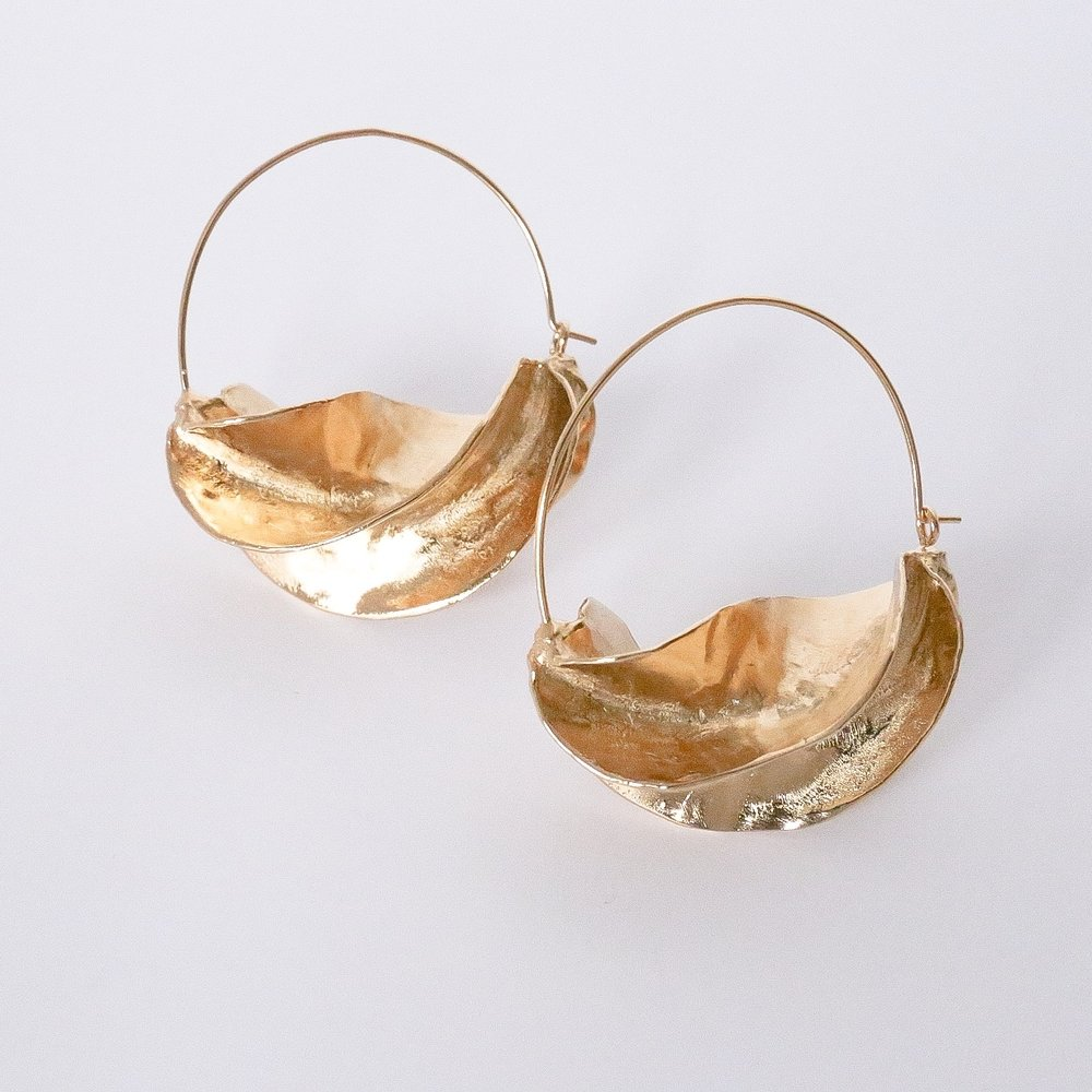 Steps of Style Gold Hoop $68